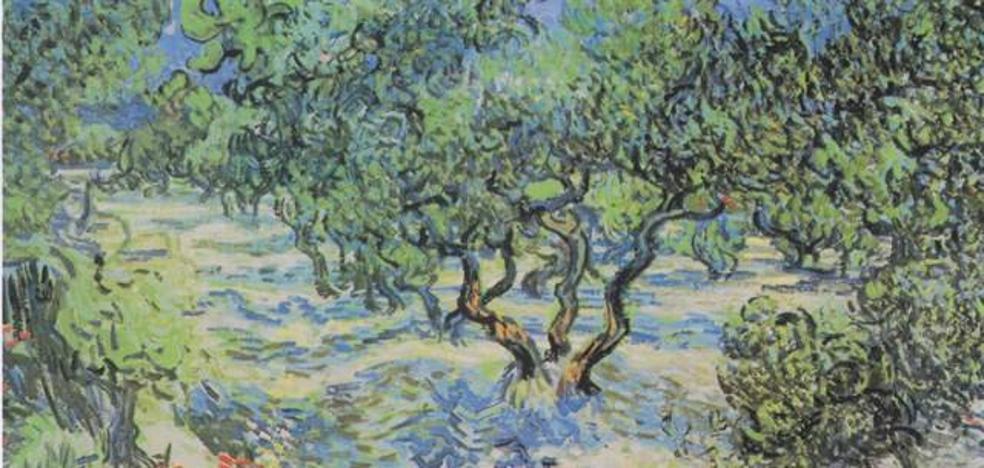 Descubren un saltamontes incrustado en una obra de Van Gogh
