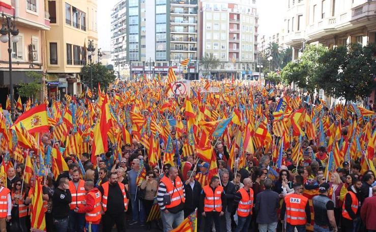 Fotos de la manifestación valencianista en Valencia