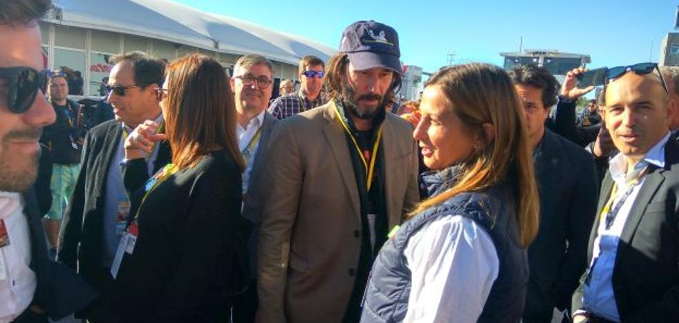 Keanu Reeves: «Cheste me parece increíble, me gustaría rodar aquí»