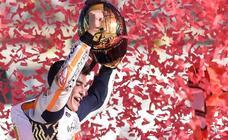 Las mejores imágenes de la victoria de Márquez en Cheste