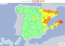 Alerta naranja por fuertes vientos en Castellón y amarilla en Valencia y Alicante