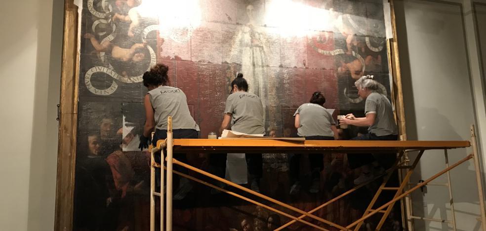 El Museo de Bellas Artes evalúa el estado de 'La Inmaculada', de Espinosa