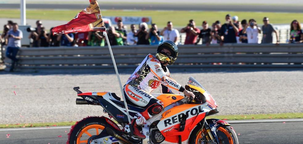 Márquez luce una bandera con el '1' para evitar polémicas