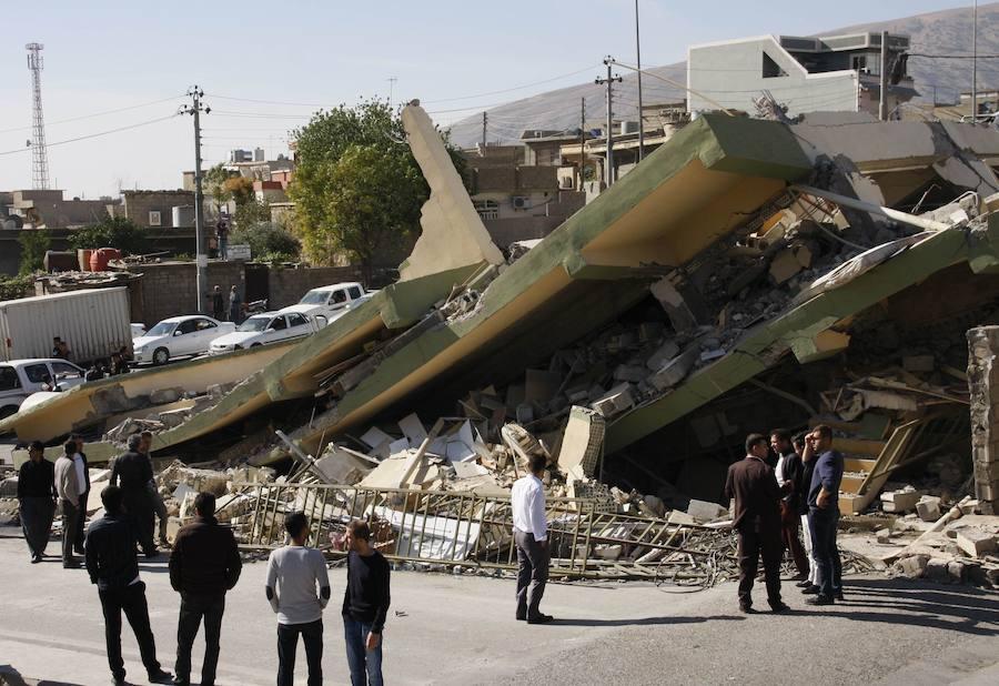 Fotos de la destrucción tras el terremoto en Irak e Irán