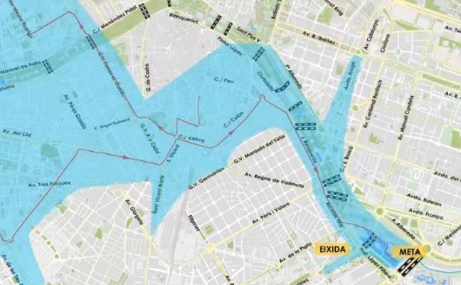 Calles cortadas por el Maratón de Valencia 2017