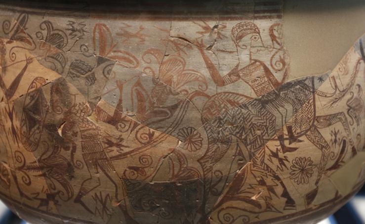 Fotos de la exposición 'El enigma del vaso' del guerrero íbero