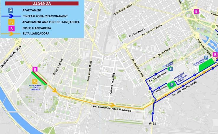 Dónde aparcar y autobuses gratuitos para el Maratón de Valencia 2017