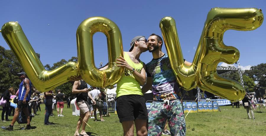Fotos de la celebración tras la aprobación del matrimonio igualitario en Australia