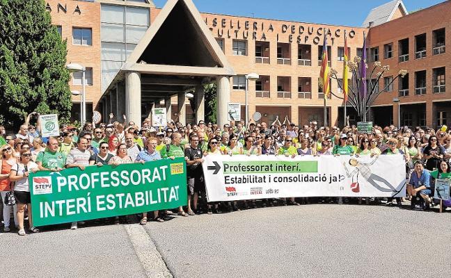 El profesorado anuncia manifestaciones y huelgas por sus condiciones laborales