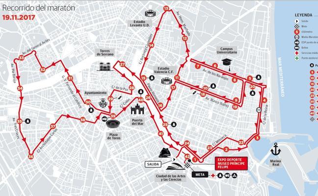 Este es el recorrido del Maratón de Valencia 2017