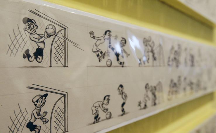 Fotos de la exposición en el MuVim de la edad de oro de la animación valenciana en la posguerra