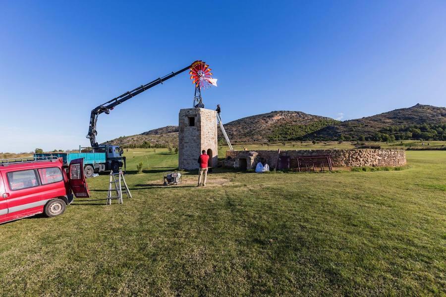 La Sella Golf pone en marcha un molino de viento del siglo XVIII del campo que ha restaurado