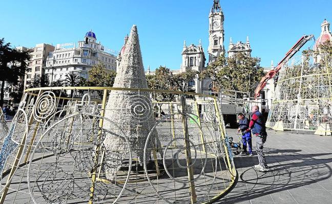 Ya es Navidad en el centro de Valencia