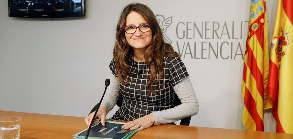 Oltra evita valorar los 4.500€ que gastará Morera en luces para su despacho