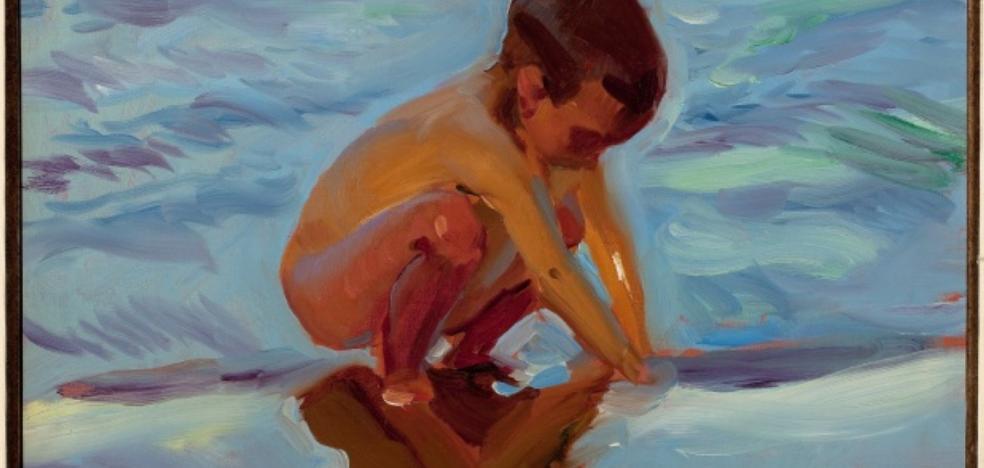 Feriarte saca a la venta 'Niño en la playa', de Sorolla, por 530.00 euros