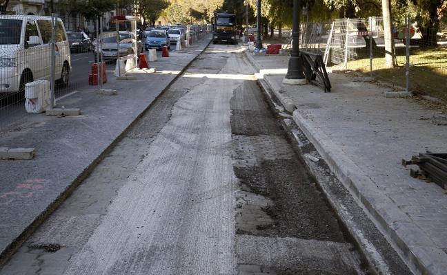 Las obras junto al cauce complicarán más el tráfico a partir de enero