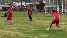 La selección valenciana se entrena por primera vez en Colombia