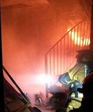 Una mujer sufre quemaduras en pecho y manos en un incendio en Finestrat