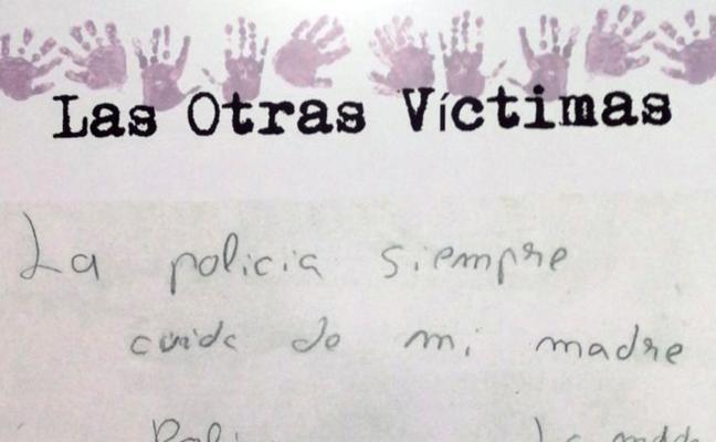 La violencia, en el lápiz de los hijos de las víctimas