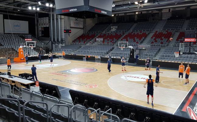 El Valencia Basket entrena en el Brose Arena