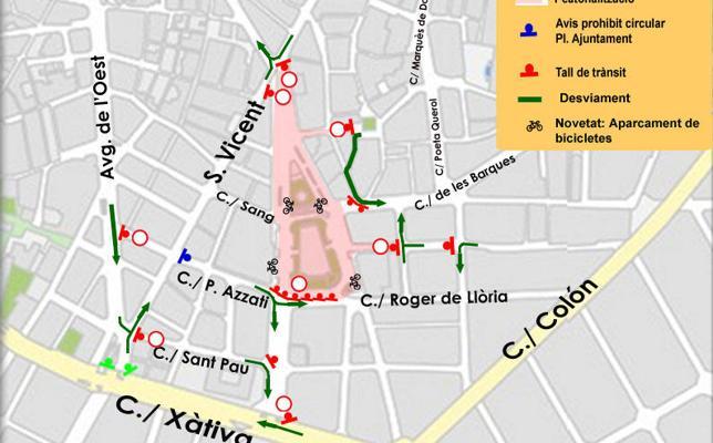 Calles cortadas en Valencia el sábado 25 de noviembre por la marcha del Día Internacional contra la Violencia de Género