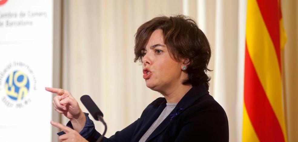 Santamaría defiende la aplicación del 155 como una «muestra de respeto a los catalanes»