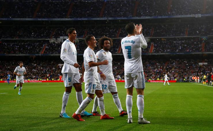 Los mejores momentos del Real Madrid-Málaga, en imágenes