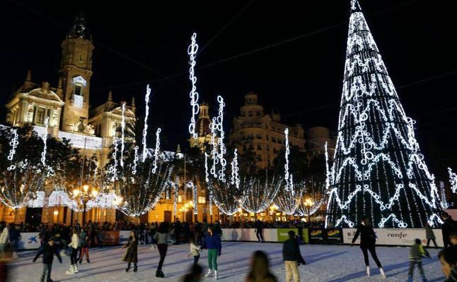 Las pistas de hielo llegan a Valencia por Navidad