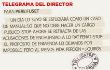 Telegrama para Pere Fuset