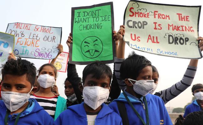 La contaminación amenaza la salud de dos de cada tres niños