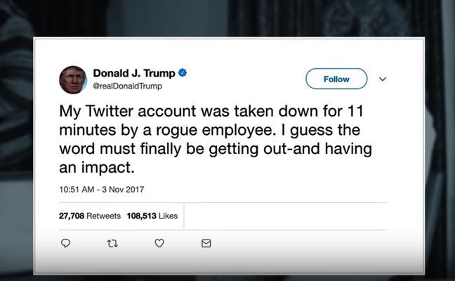 El ex trabajador de Twitter que borró la cuenta de Trump: «No hice nada que no estuviera autorizado a hacer»