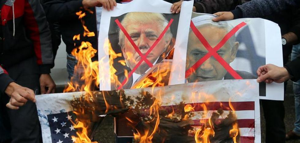Miles de palestinos protestan en Cisjordania y Gaza contra los planes de Trump sobre Jerusalén