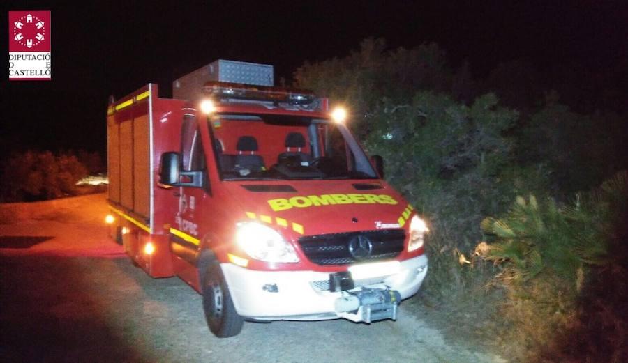 Fotos del rescate por parte de los bomberos de un herido en un barranco de la Vall d'Uixó
