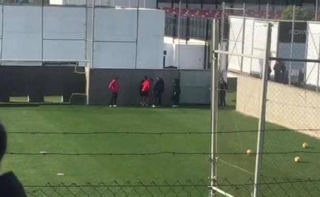 Soler da el susto en el entrenamiento