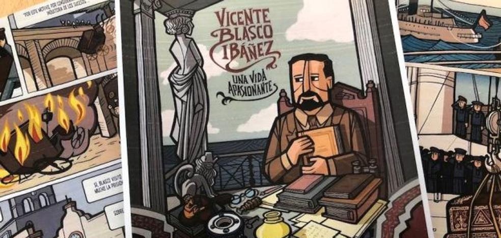 La vida de Vicente Blasco Ibáñez en viñetas