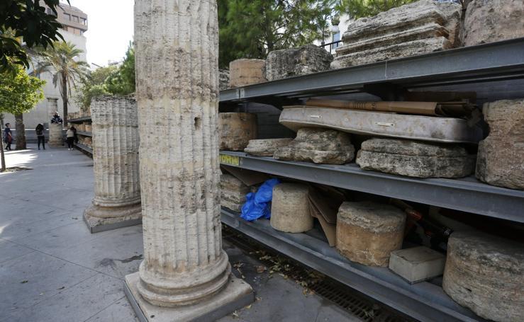 Fotos del abandono del jardín del antiguo hospital de Valencia