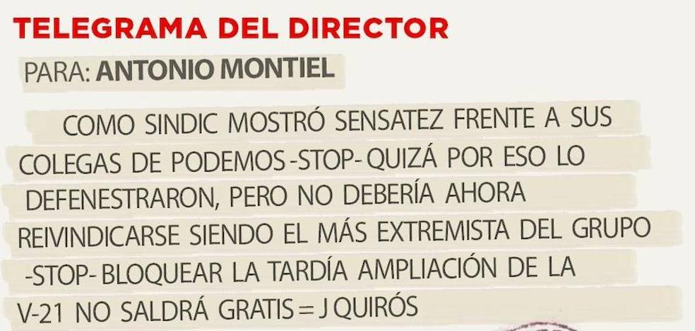 Telegrama para Antonio Montiel