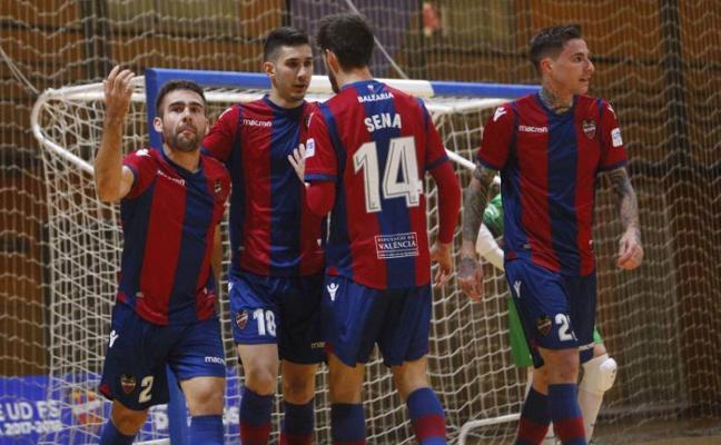 El Levante sucumbe ante el Inter Movistar (1-5) y no estará en la Copa