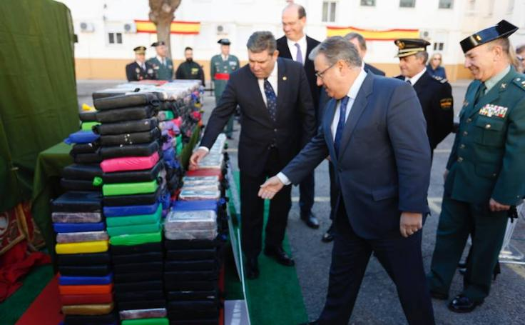 Fotos del alijo de 520 kilos de cocaína confiscado en el puerto de Valencia