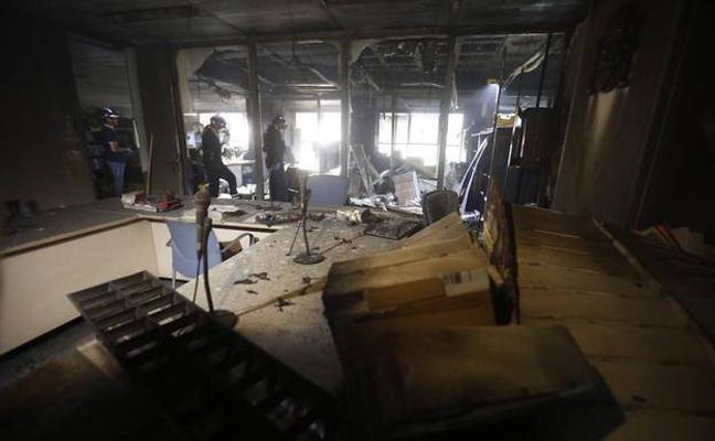 Los ocho juzgados afectados por el incendio no se abrirán hasta el mes de abril