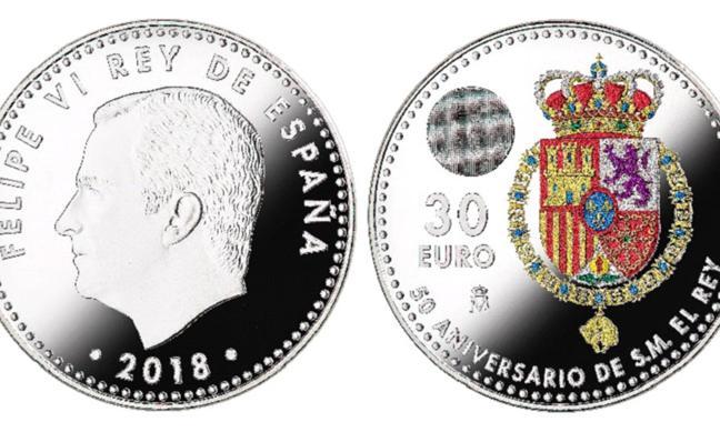 España emite su primera moneda en color