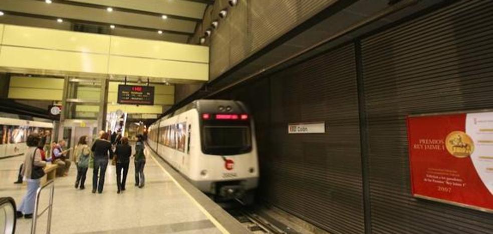 El metro de Valencia amplía su horario hoy y mañana hasta la madrugada por las cenas de Navidad