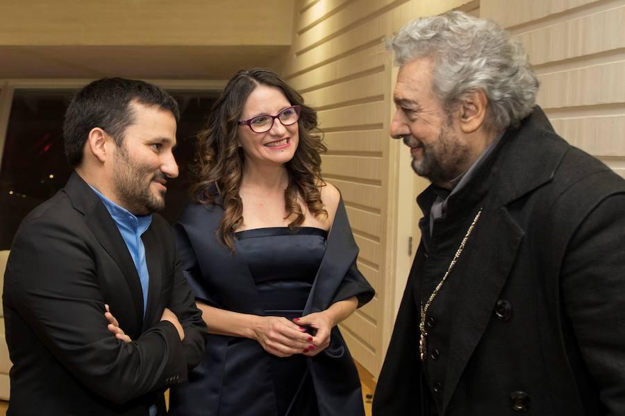 Fotos de Vicent Marzà y Mónica Oltra en Les Arts para ver la ópera 'Don Carlo' de Verdi