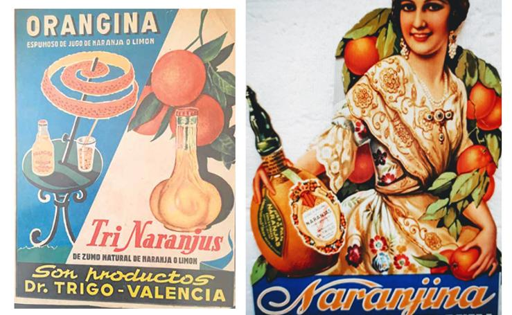 Fotos de Naranjina, Trinaranjus y Orangina, refrescos valencianos del Doctor Trigo