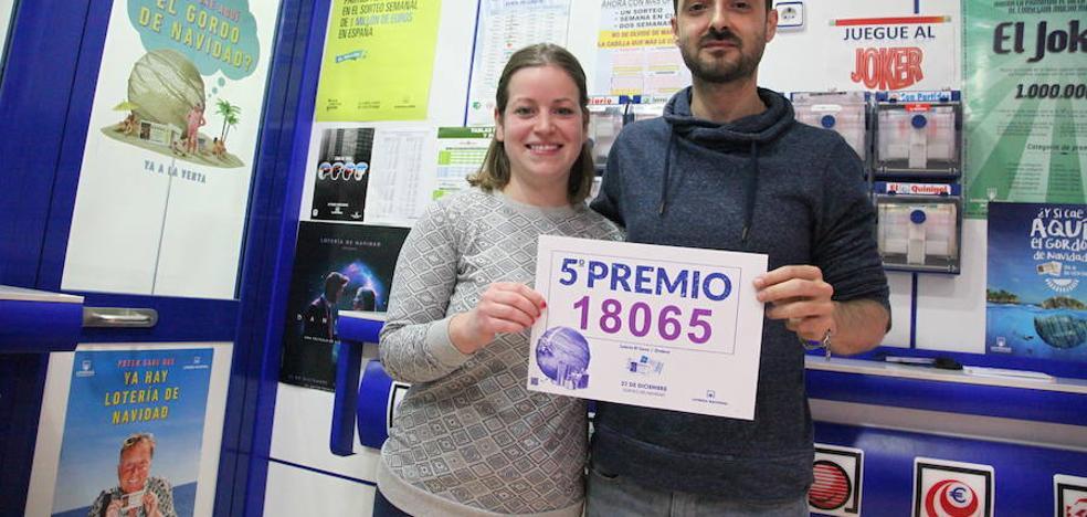 18.065, quinto premio de la Lotería de Navidad de 2017, vendido en Ondara, Benidorm, Elche y Manises