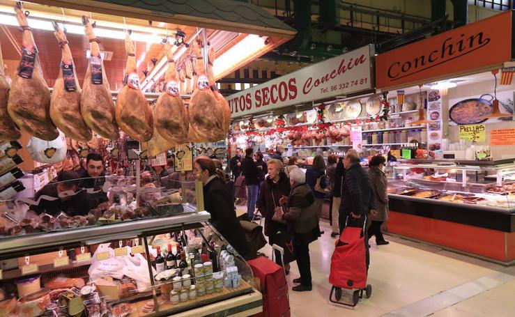Fotos de los mercados de Valencia en Navidad