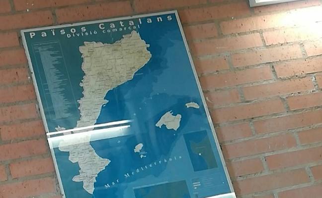 Benicàssim pide retirar de un instituto un mapa que incluye a la Comunitat Valenciana en los 'Països Catalans'