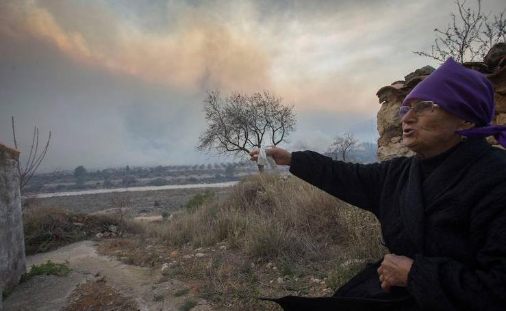 Fotos del incendio de Culla