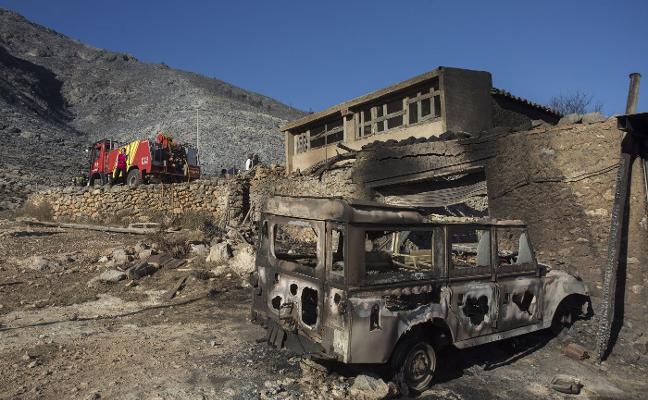 Estabilizado el incendio de Culla tras quemar 450 hectáreas de monte