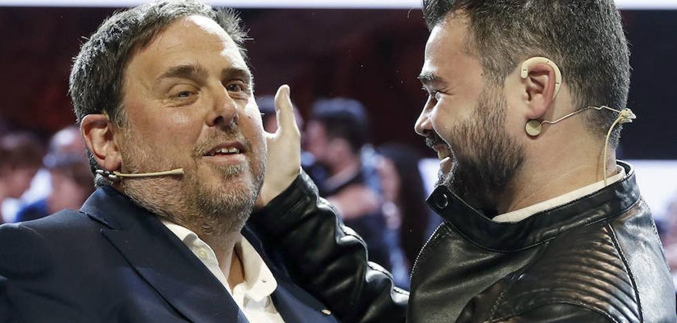 Rufián dice que Junqueras es el plan B si Puigdemont no puede volver